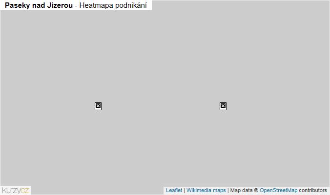 Mapa Paseky nad Jizerou - Firmy v obci.