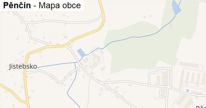 Pěnčín - mapa obce