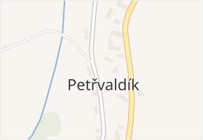 Petřvald 2-Petřvaldík v obci Petřvald - mapa části obce
