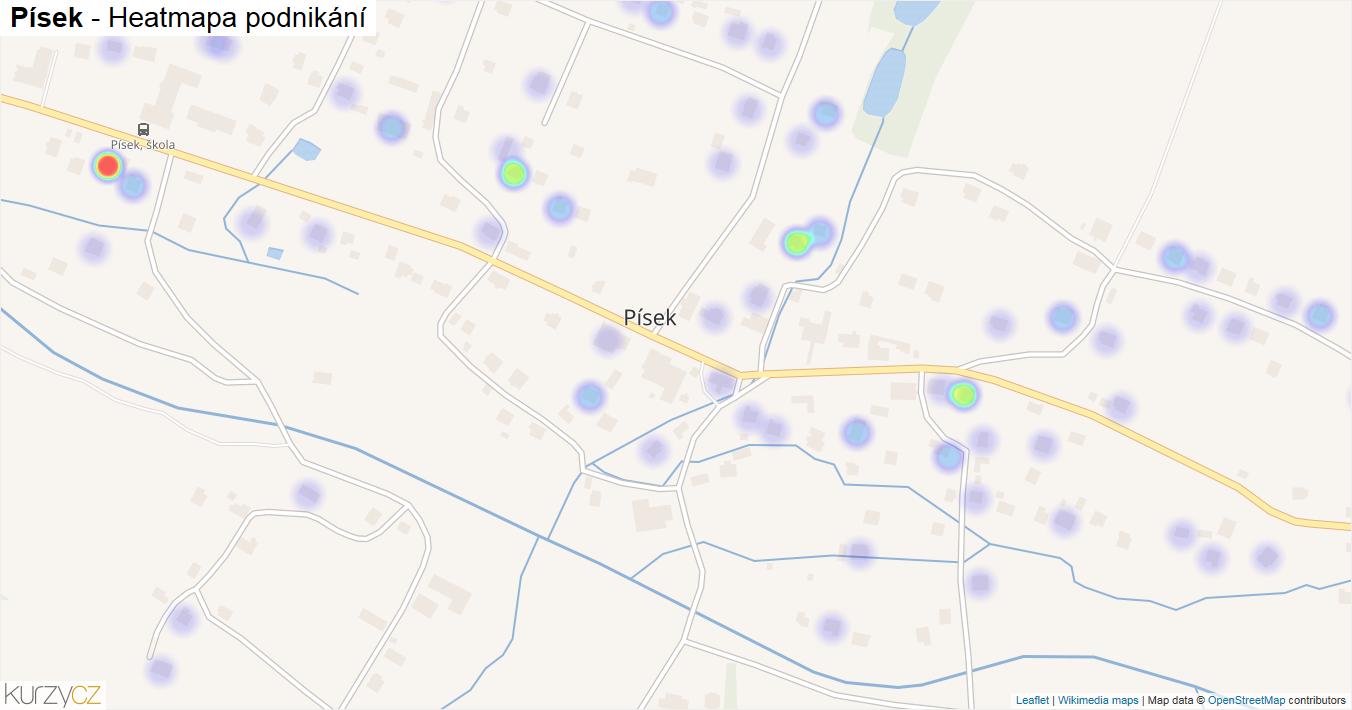Písek - mapa podnikání
