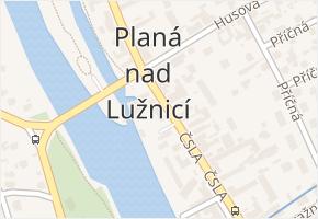 Planá nad Lužnicí v obci Planá nad Lužnicí - mapa části obce