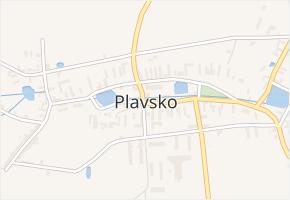 Plavsko v obci Plavsko - mapa části obce