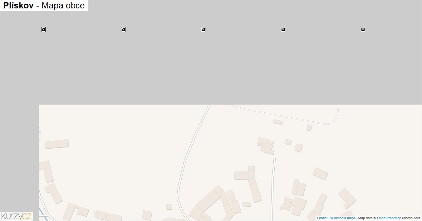 Plískov - mapa obce