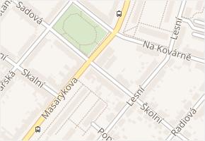 Doubravka v obci Plzeň - mapa části obce
