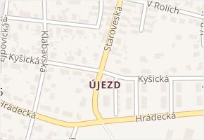 Újezd v obci Plzeň - mapa části obce