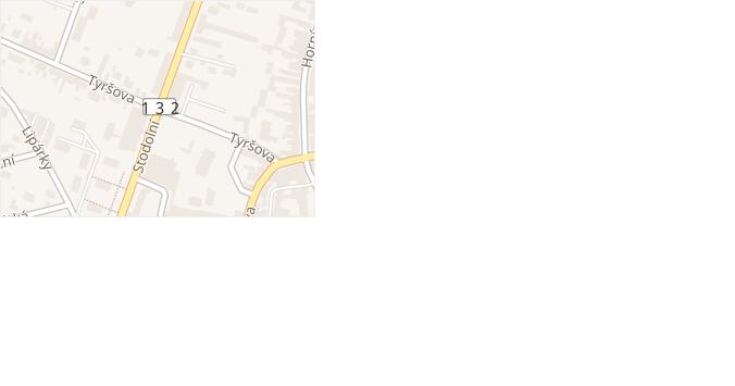 Stodolní v obci Počátky - mapa ulice