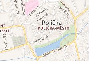 Kostelní v obci Polička - mapa ulice