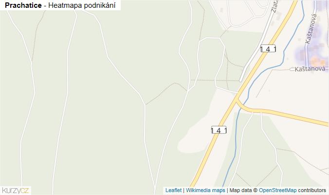 Mapa Prachatice - Firmy v obci.