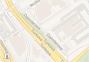 Daimlerova v obci Praha - mapa ulice