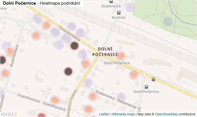Mapa Dolní Počernice - Firmy v části obce.