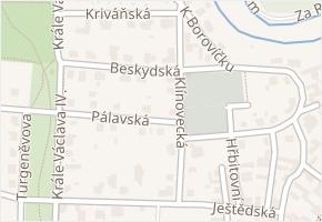 Kunratice v obci Praha - mapa části obce