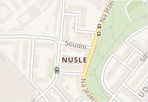 Nusle v obci Praha - mapa části obce