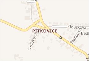 Pitkovice v obci Praha - mapa části obce