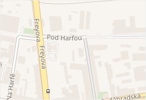 Pod Harfou v obci Praha - mapa ulice