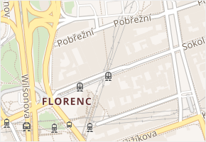 Sokolovská v obci Praha - mapa ulice