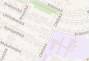 Strašnice v obci Praha - mapa části obce