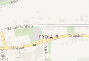 Troja v obci Praha - mapa části obce