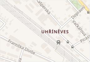 Uhříněves v obci Praha - mapa části obce