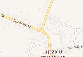 Újezd v obci Praha - mapa části obce