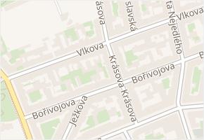 Vlkova v obci Praha - mapa ulice