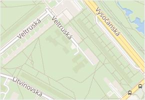 Vysočanská v obci Praha - mapa ulice