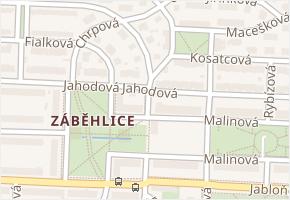Záběhlice v obci Praha - mapa části obce