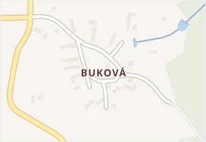 Buková v obci Pravonín - mapa části obce