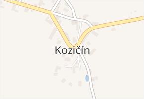 Kozičín v obci Příbram - mapa části obce