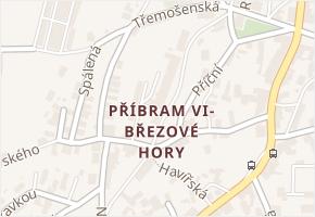 Příbram VI-Březové Hory v obci Příbram - mapa části obce