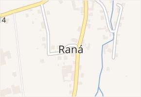 Raná v obci Raná - mapa části obce