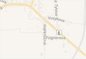 Vrchlického v obci Řevničov - mapa ulice
