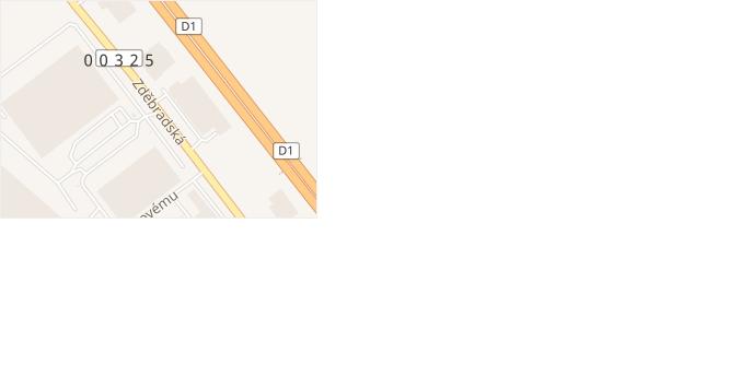 Zděbradská v obci Říčany - mapa ulice