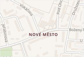 Nové Město v obci Rokycany - mapa části obce