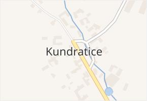 Kundratice v obci Rozsochy - mapa části obce