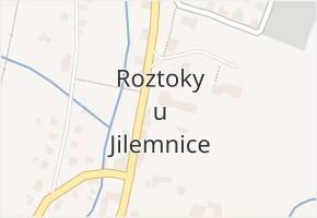 Roztoky u Jilemnice v obci Roztoky u Jilemnice - mapa části obce