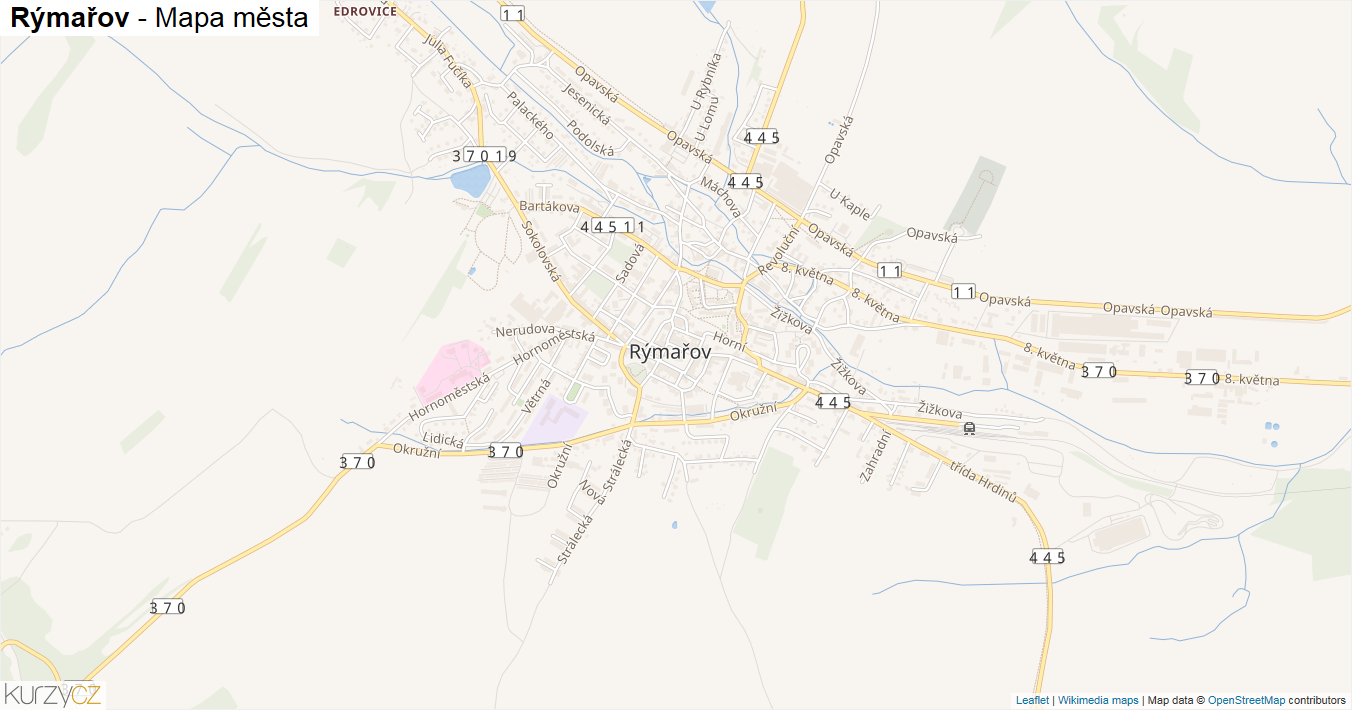Rýmařov - mapa města