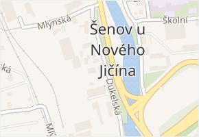 Šenov u Nového Jičína v obci Šenov u Nového Jičína - mapa části obce