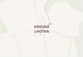 Hnojná Lhotka v obci Slapy - mapa části obce