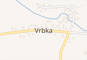 Vrbka v obci Služovice - mapa části obce