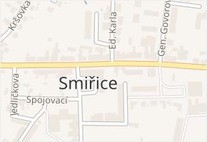 Smiřice v obci Smiřice - mapa části obce