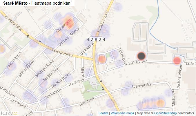 Mapa Staré Město - Firmy v obci.