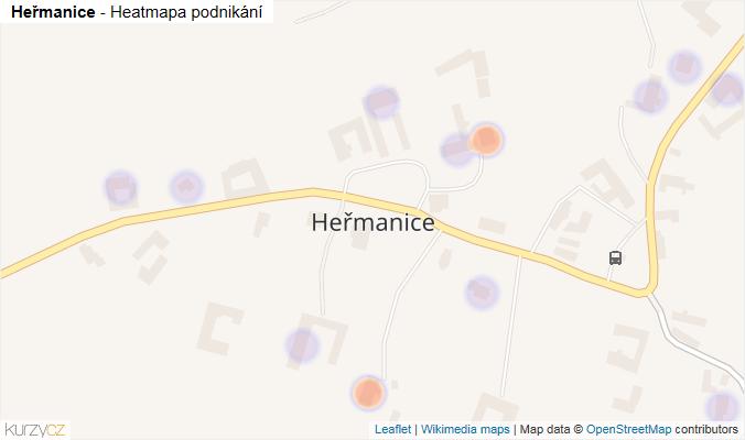 Mapa Heřmanice - Firmy v části obce.