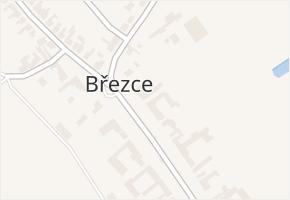 Březce v obci Štěpánov - mapa části obce