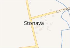 Stonava v obci Stonava - mapa části obce