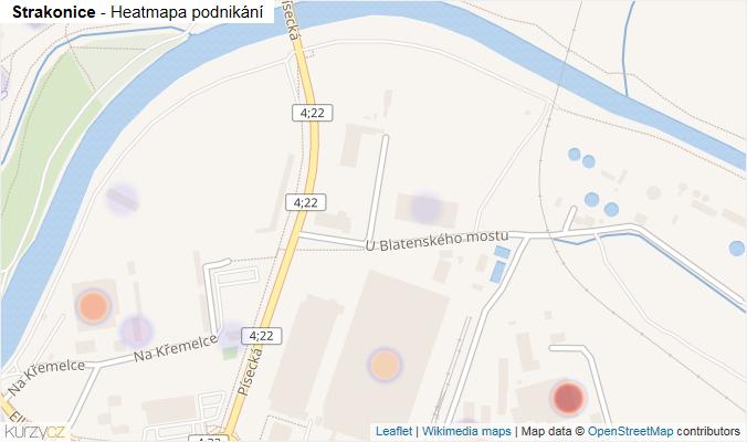 Mapa Strakonice - Firmy v obci.