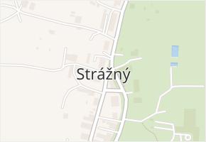 Strážný v obci Strážný - mapa části obce