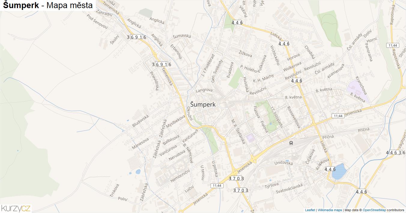 Šumperk - mapa města