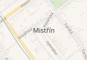 Mistřín v obci Svatobořice-Mistřín - mapa části obce