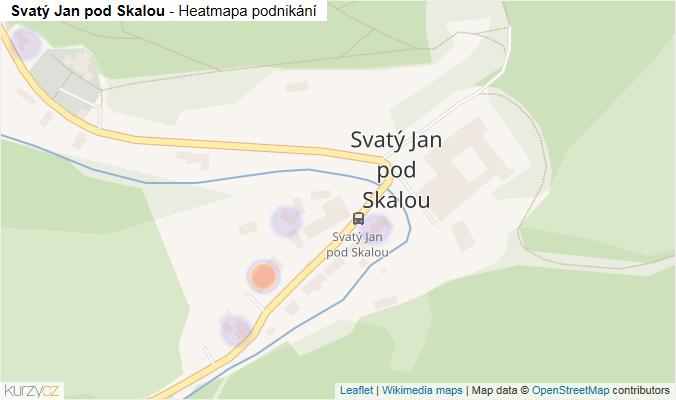 Mapa Svatý Jan pod Skalou - Firmy v části obce.