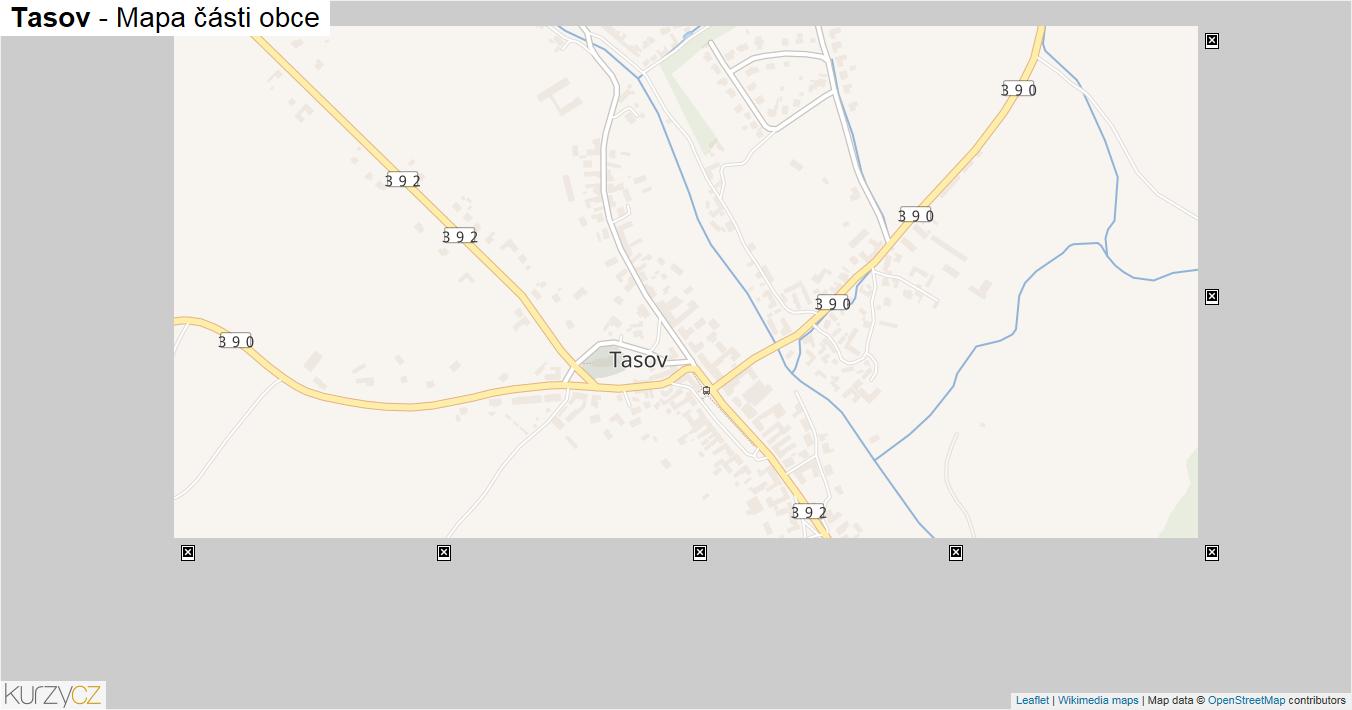 Tasov - mapa části obce